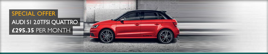 Audi S1 2.0TFSi Quattro 231ps Manual 3dr Lease