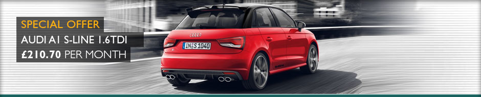 Audi A1 S-Line 1.6TDi 116ps Manual Sportback 5dr Lease