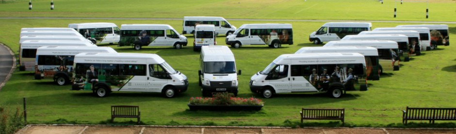 Langely School Ford Transit Minibusses supplied by Bussey Vehicle Leasing